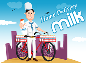 Home Delivery Milk